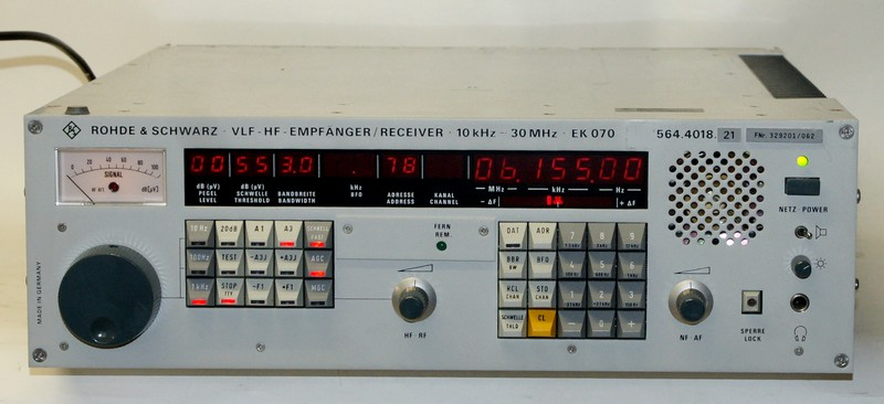 VLF HF Receiver Rohde & Schwarz EK 070 / E-658