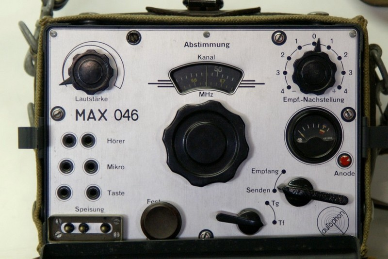 Frontpanel of VHF Wireless station MAX